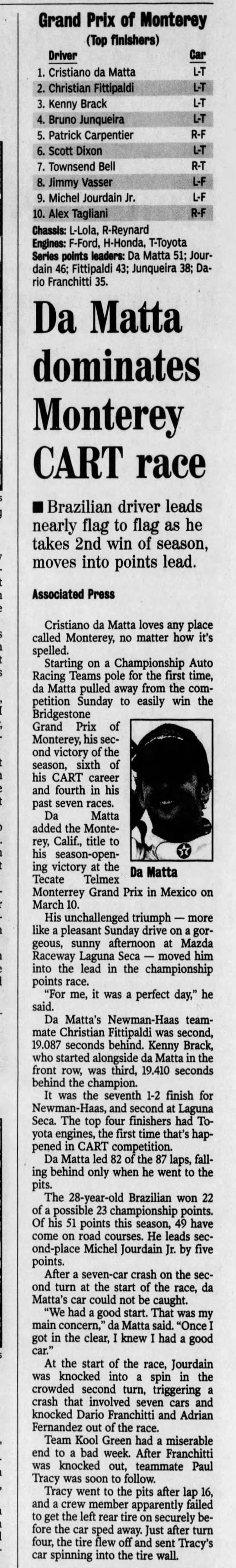 CART Laguna Seca 2002 -