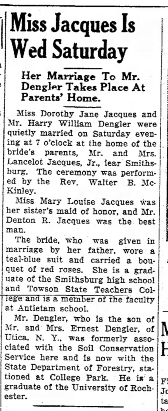 Jacques-Dengler marriage