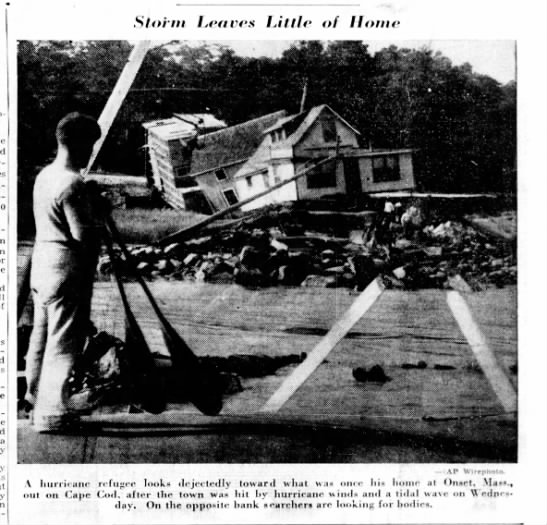 House on Cape Cod damaged by 1938 hurricane -