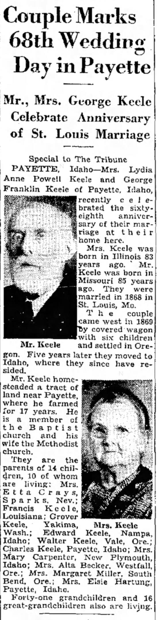 George Franklin KeeleJuly 30, 1936 -