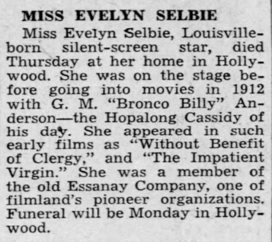 Evelyn Selbie -