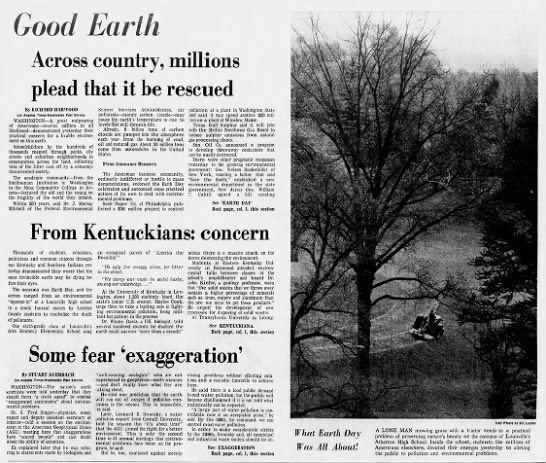 """Good Earth: Across country, millions plead that it be rescued"" -"