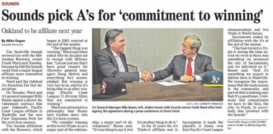 Sounds Pick A's for 'Commitment to Winning' -