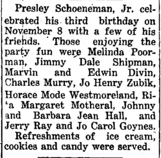 Joe Henry Zubik attends Birthday Party -