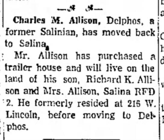 Charles Allison clipSalina journal28 Jan 1963 -