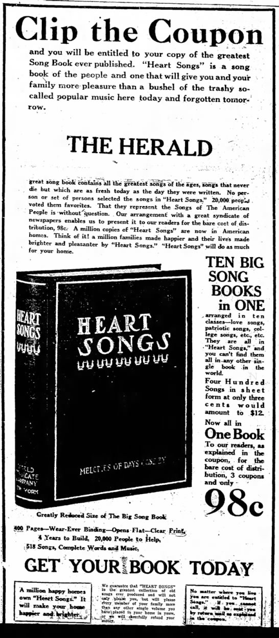 Coupon offer 1925 -