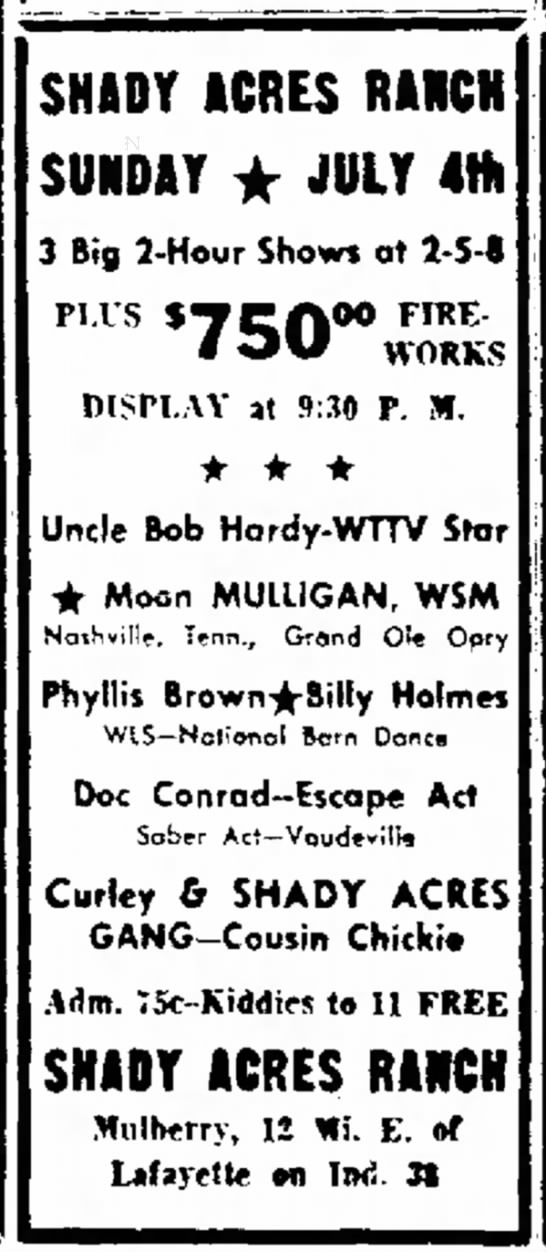 Anderson Daily Bulletin - Anderson Indiana 2 July 1954 -