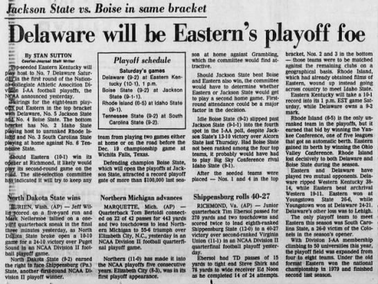 Delaware will be Eastern's playoff foe -