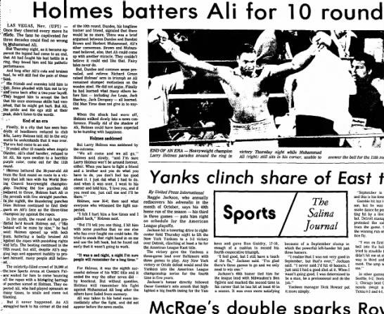 Holmes vs Ali '80 -