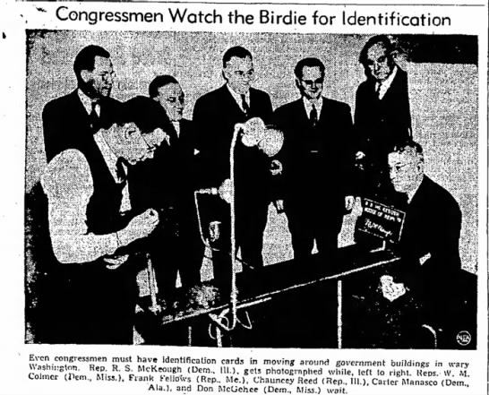 Carter Manasco - Congressmen Watch the Birdie for Identification...