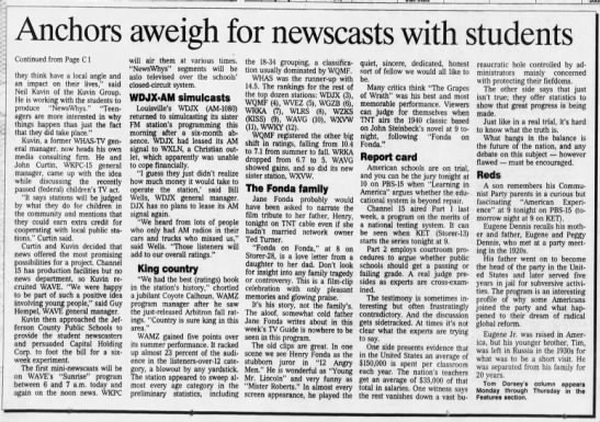 Anchors aweigh for newscasts with students -