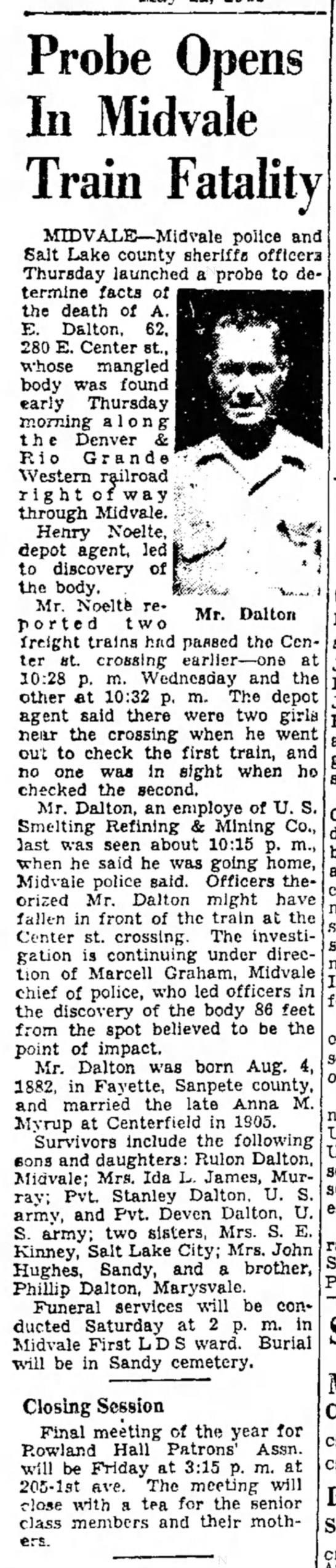Train fatality 5-1145 -