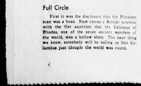 Full Circle - Full Circle First it was the disclosure that...