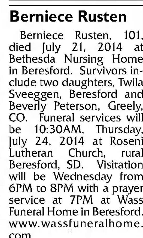 Argus Leader Sioux Falls South Dakota 22 July 2014 Tuesday Page C6