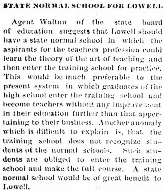 Lowell_Sun_1893_7_November_State_normal_school_for_Lowell -