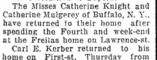 Knight Visit to Sandusky The Sandusky Star-Journal (Sandusky, Ohio), 11 July 1919, Page 4  -