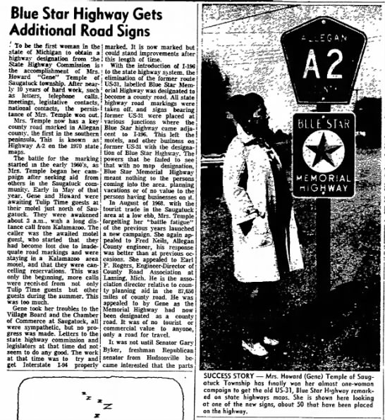 Blue Star Highway Gets Additional Road Signs -
