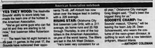 American Association Notebook -