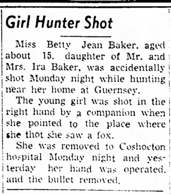 Betty shot in the hand -