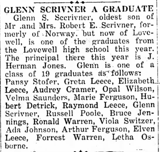 Lovewell, KS class of 1926 -