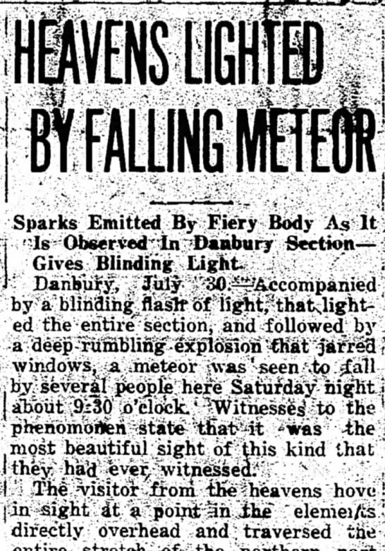 Meteor Falls From the Sky -
