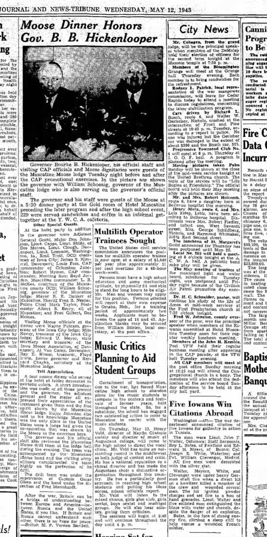 Bernard Chayka hosts governor 12may 1943 -
