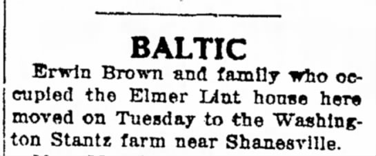 Article of 2 Feb 1927 - possible relatives of Delilah Lint & Andrew B. Stantz  -