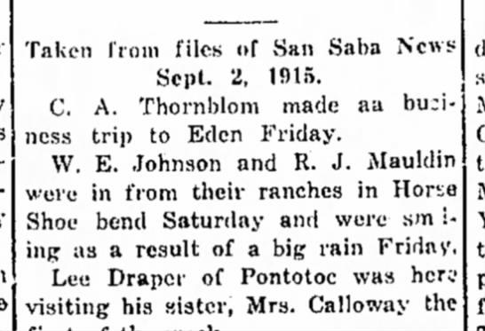 44444 - Taken from files of San Saba News Sept. 2,...