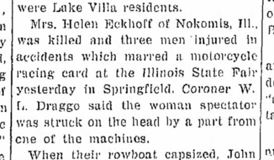 Helen Eckhoff death 1940 -
