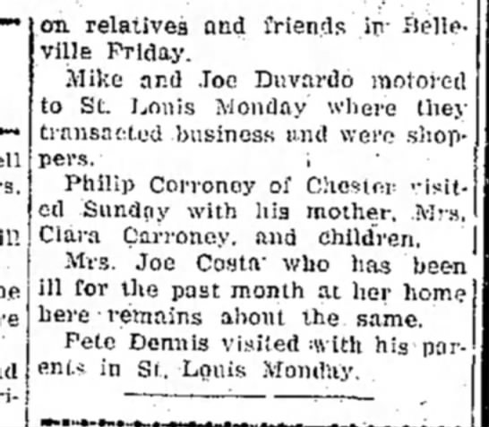 Willisville News - pt 2 - i .on relatives and friends in- Belleville...