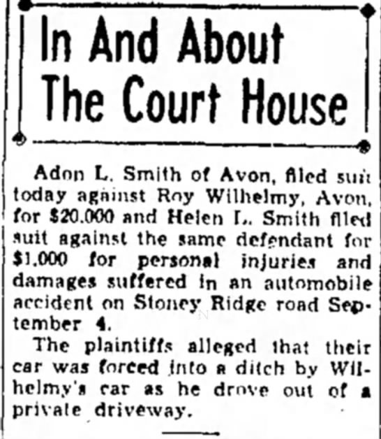 - In And About The Court House Adon L. Smith of...