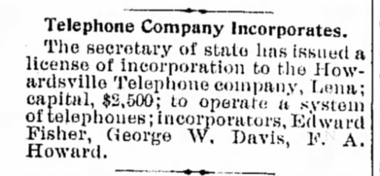 Telephone Company Howardville