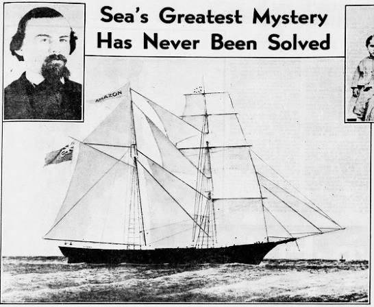 """The Mystery of the """"Mary Celeste"""" - Has Never Been Solved . - ' 'X its & w Nd' ......"""
