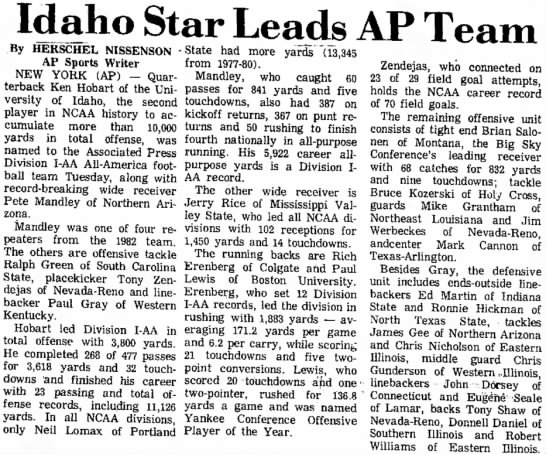 Idaho Star Leads AP Team -