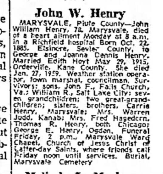 The Salt Lake Tribune, 16 July 1964, page B15, column 8. -