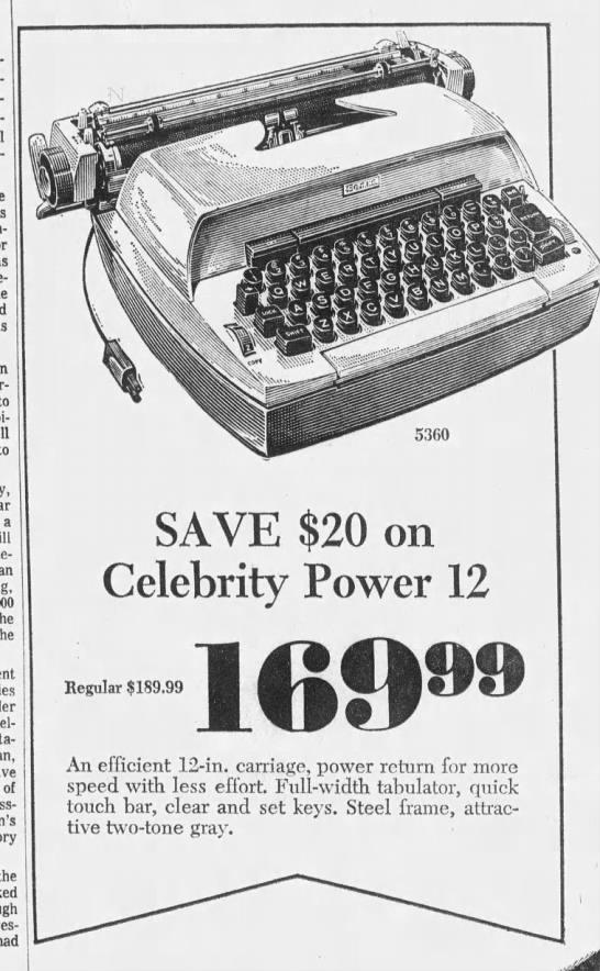 Sears Celebrity Power 12 -