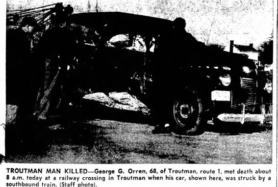George Orren Auto/Train Accident - Newspapers com