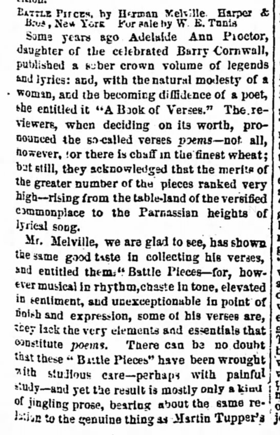 Review of Melville's Battle-Pieces (1 of 2) -