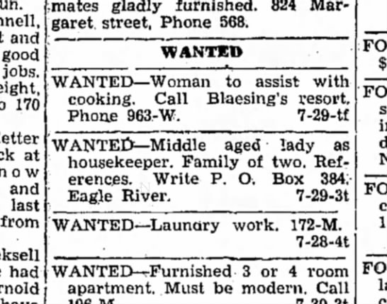Help Wanted -