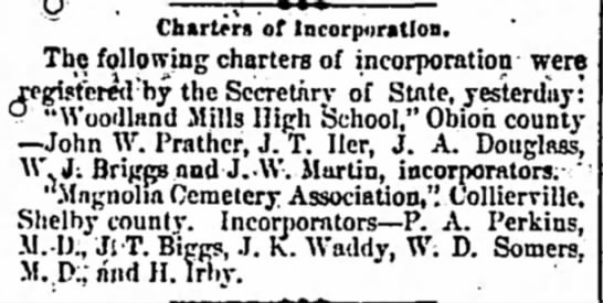 - Charters of Incorpiiratlon. The following...