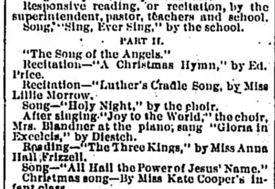 Luther's Cradle Song -