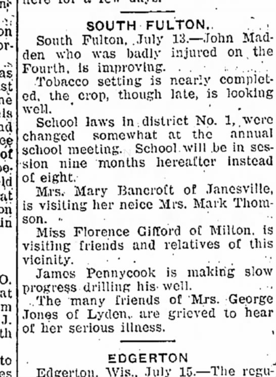 16 July 1907