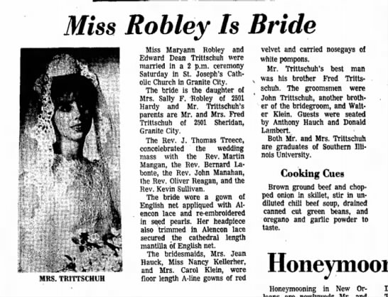 Maryann Robley, weds-p.10-24 Feb 1969 -