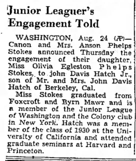 Stokes/Hatch engagement (1939) -