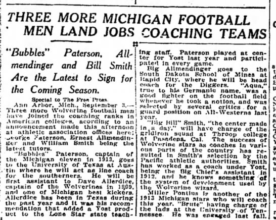 Three More Michigan Football Men Land Jobs Coaching Teams -