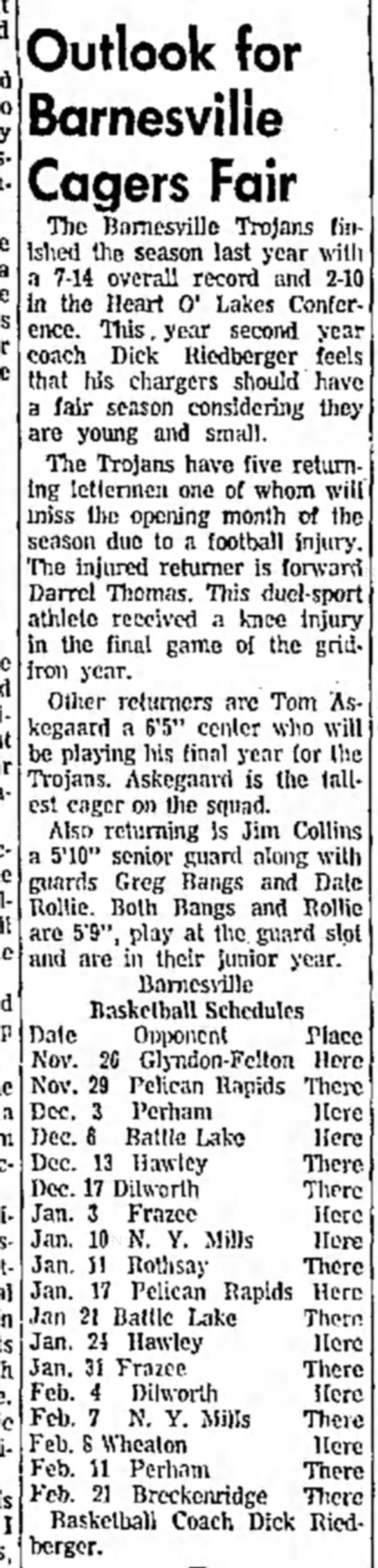 "Daily Journal, Fergus Falls, MN, Nov 19, 1968 - m are bit"", play at tne guard si nnd are ' in..."