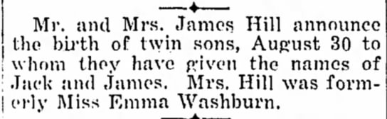 MM hill have twin sons, Jack and James -