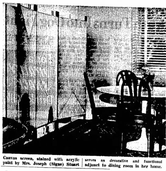 Decorative and Functional Painting, The Sl Tribune, 11, Sept 1968 -
