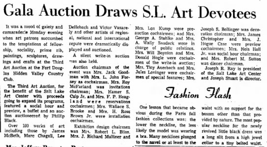 Gala Auction, The SL Tribune, 17 Sept 1968 -