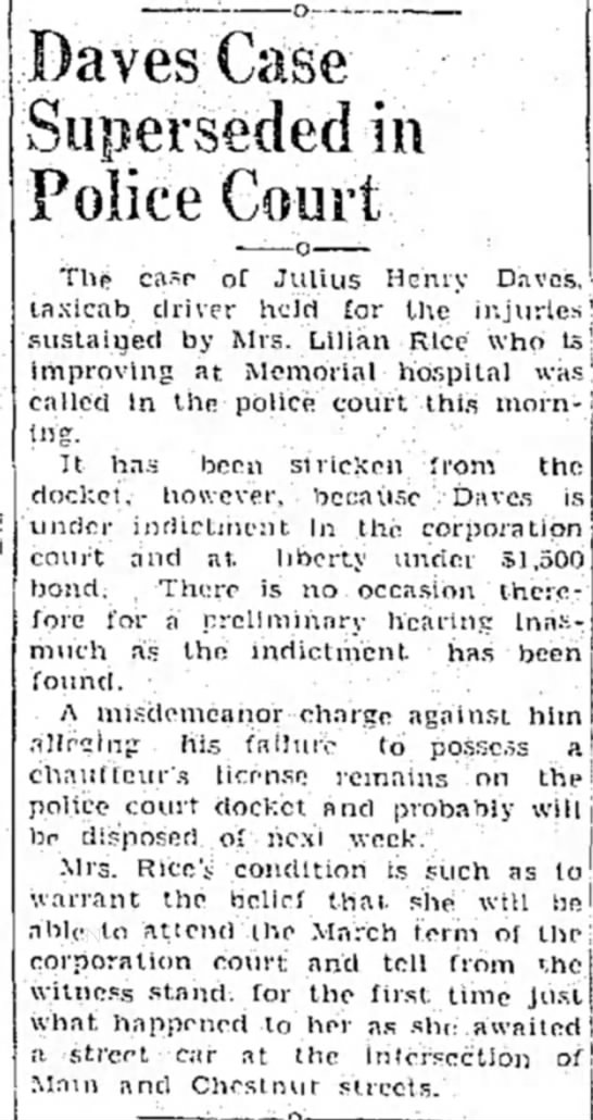 Julius Daves Case - Danville Bee - 31 Jan 1936 -